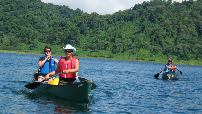 Canoeing in Arenal